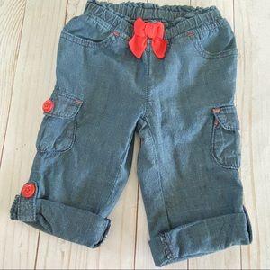 🛍 3/$20 Gymboree baby girl denim cargo pants